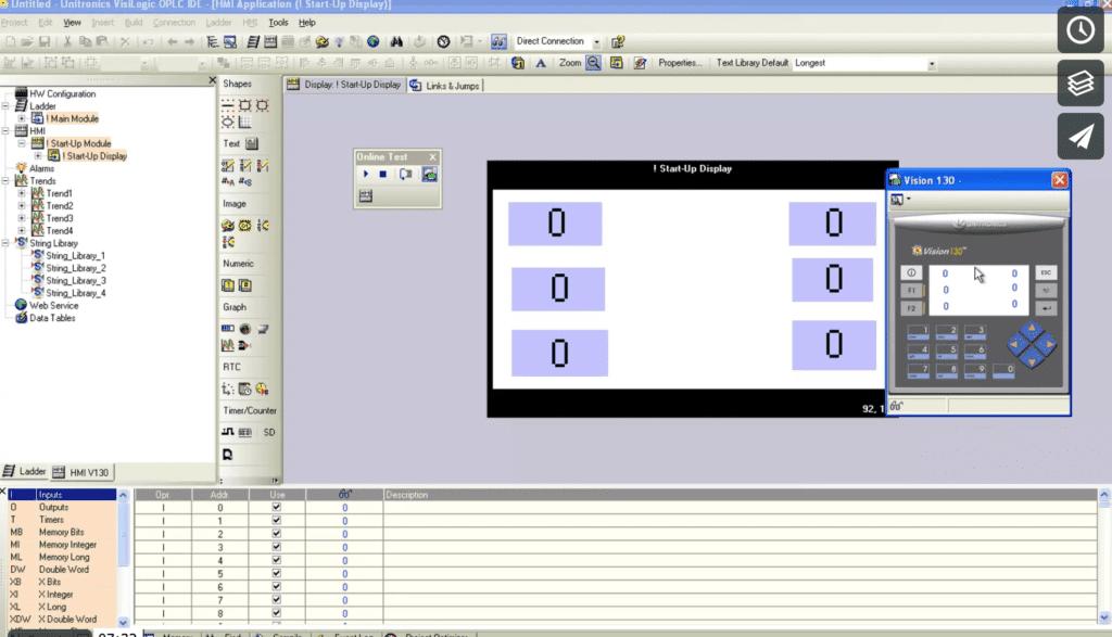 curso de unitronics vision130-video2